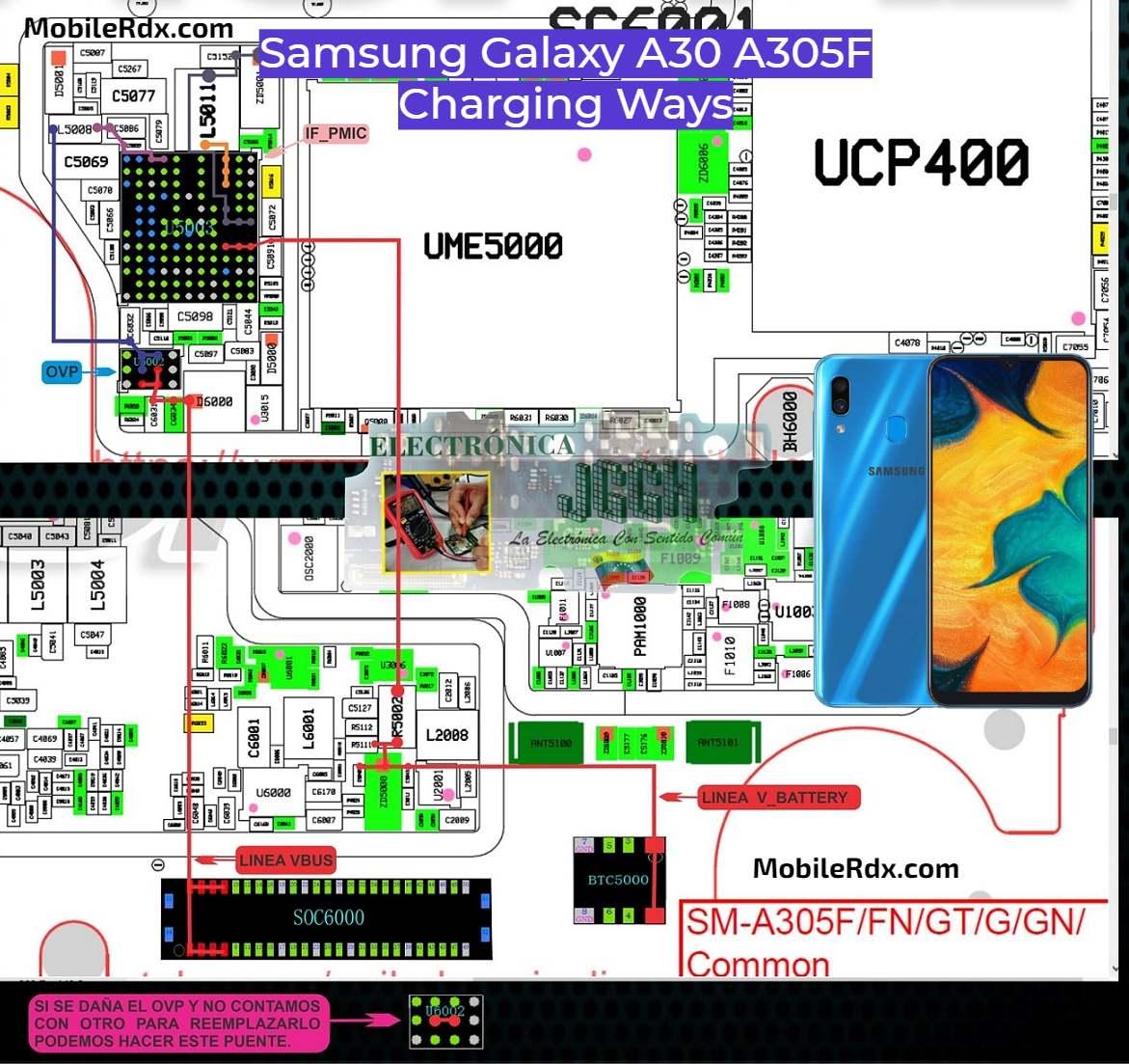 Samsung Galaxy A30 Charging Ways Charging Problem Solution