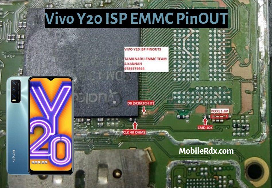 Vivo Y20 ISP EMMC PinOUT   Test Point