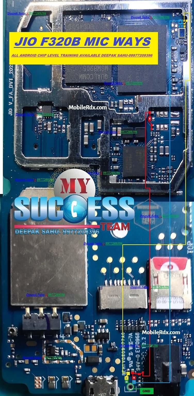 Jio F320B Mic Ways   Mic Problem Jumper Solution