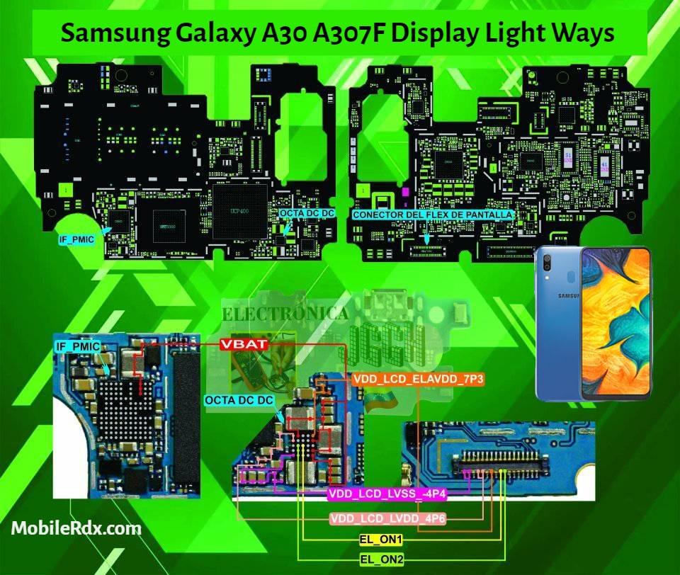 Samsung Galaxy A30 A307F Display Light Ways   Backlight Solution