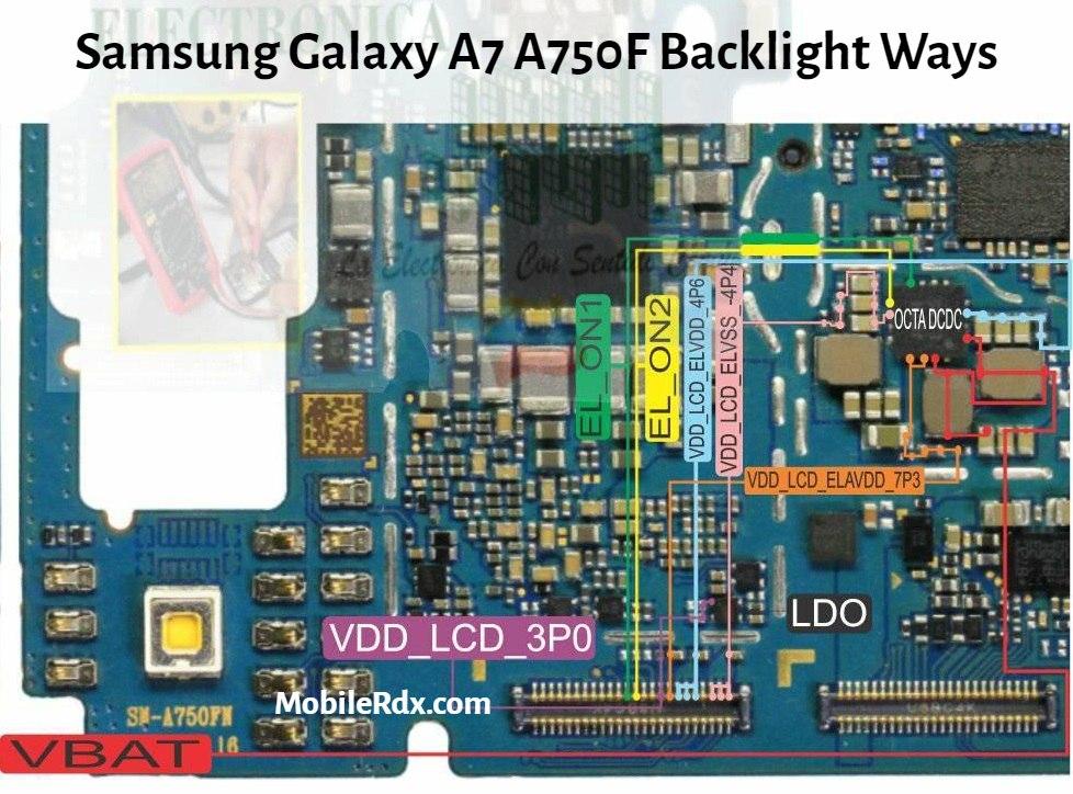 Samsung Galaxy A7 A750F Display Light Ways   Backlight Solution