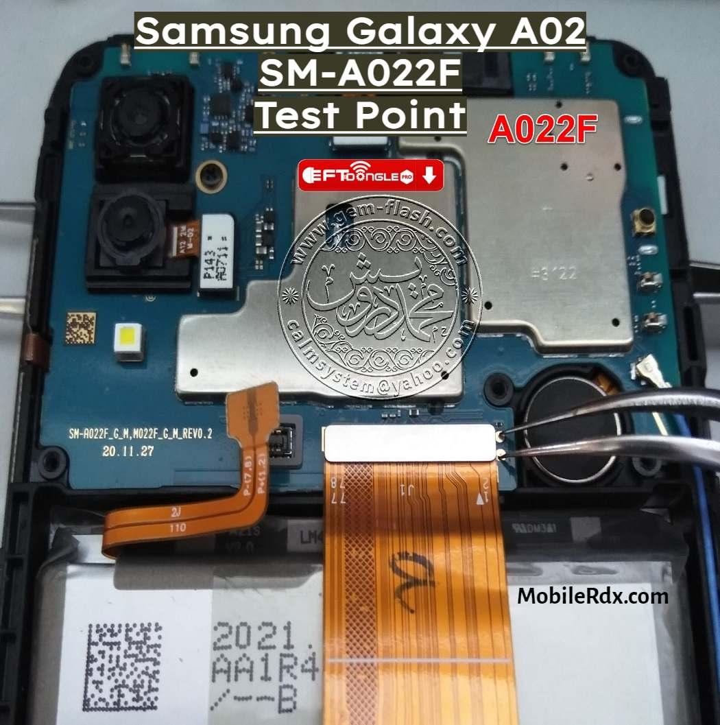Samsung Galaxy A02 SM A022F Test Point