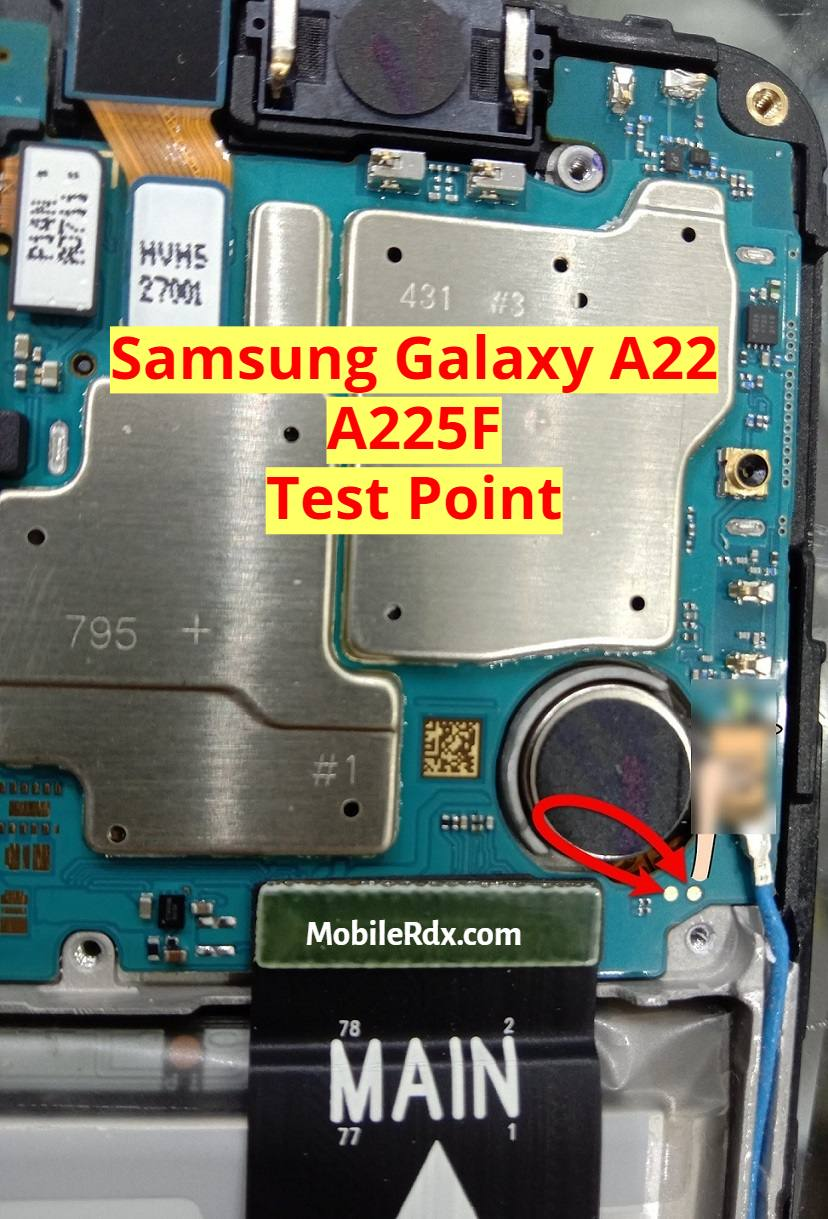 Samsung Galaxy A22 A225F Test Point to Remove Pattern FRP And Flashing