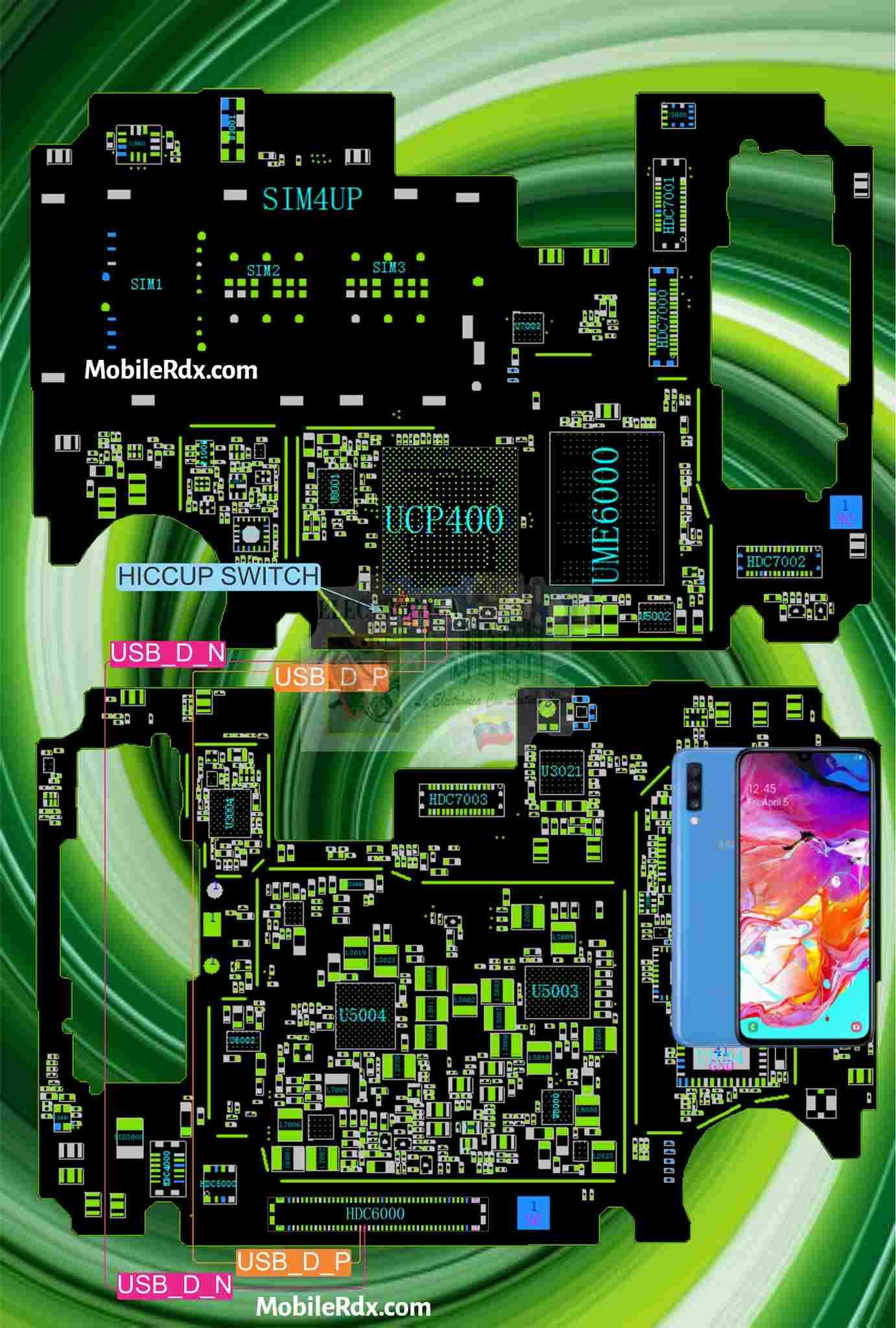 Samsung Galaxy A70 USB Charging Ways